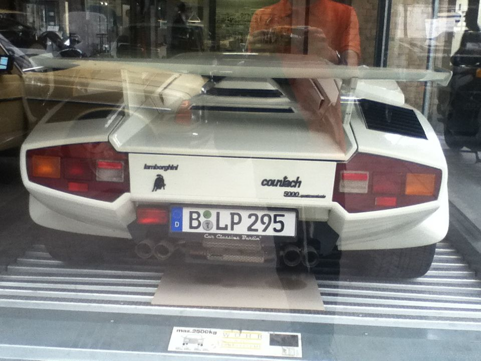 Rear View Of Lamborghini Countach 5000 Qv Sleek And Timeless Cars