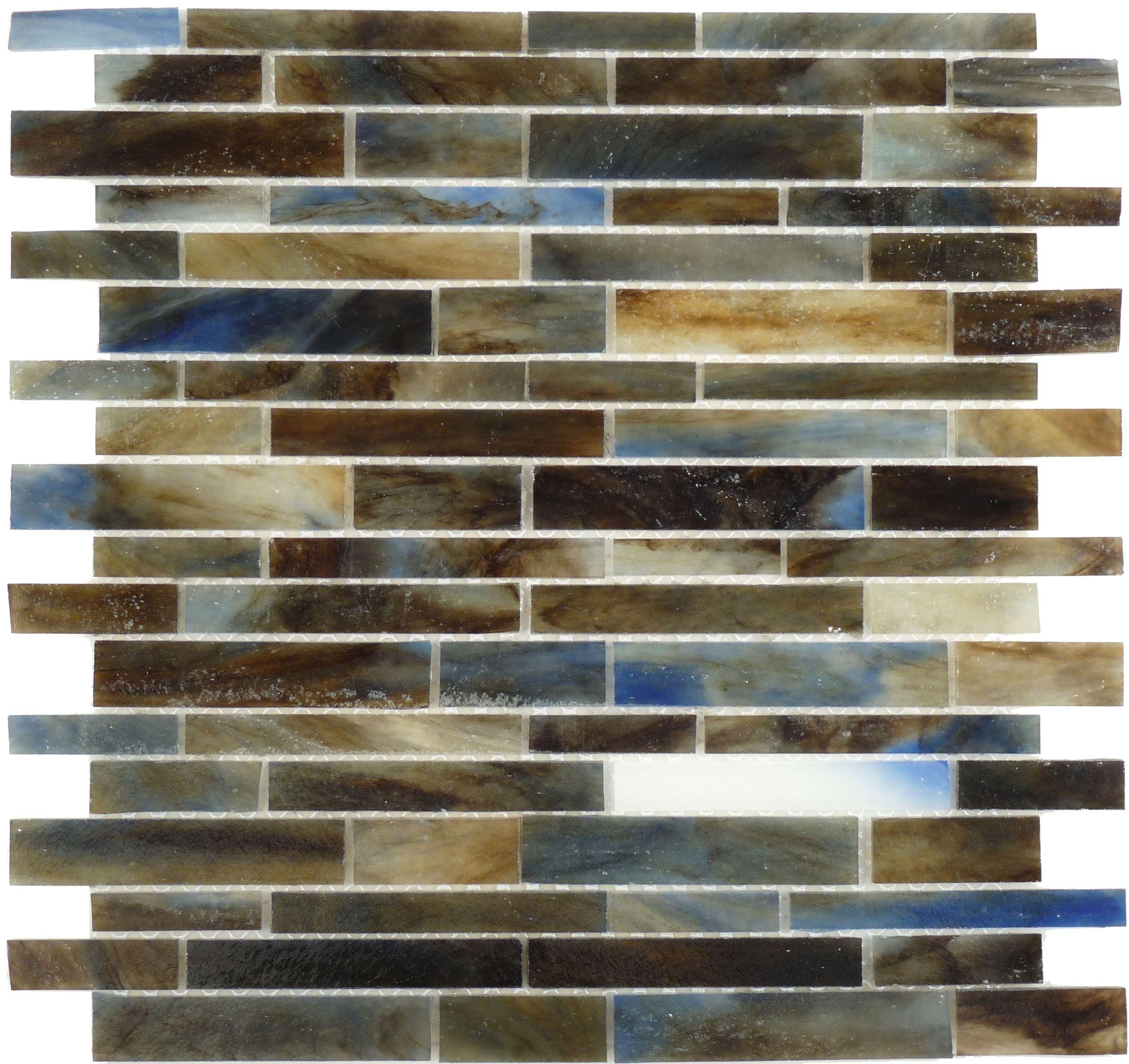 Botanical Glass Murano Vena Glass Mosaic Random Bricks