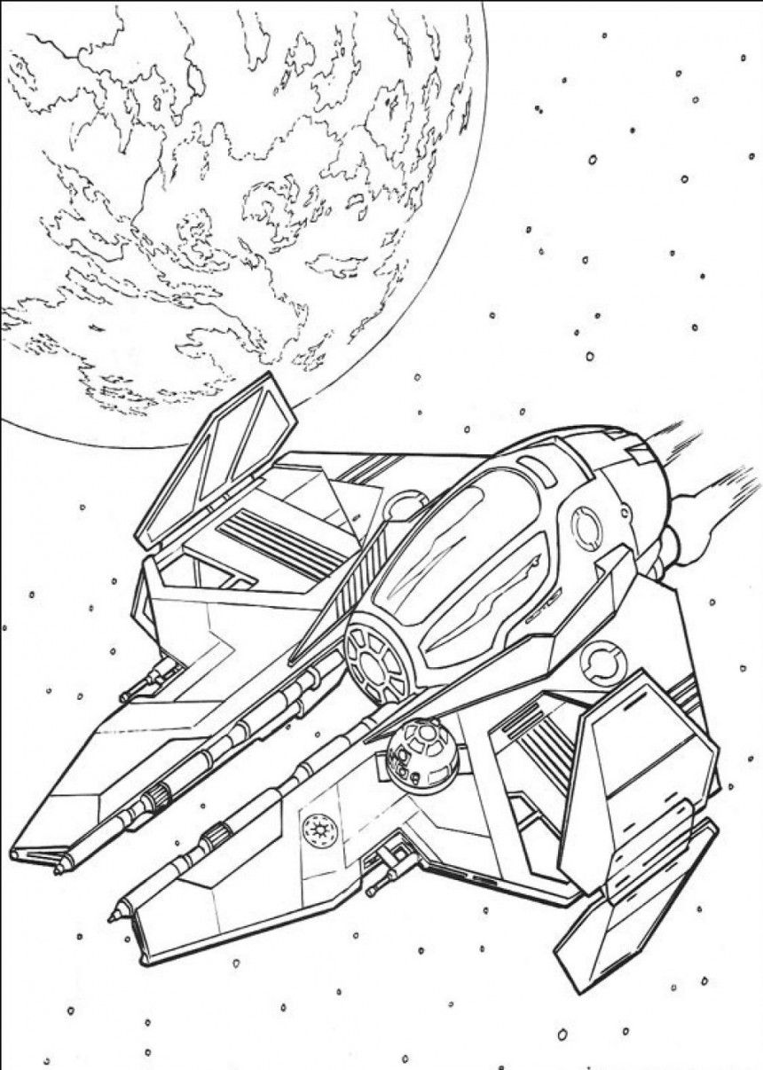 Star Wars Ship Coloring Pages Coloring Pages Of Star Wars Ship 5 Kidskat Com Star Wars Coloring Book Space Coloring Pages Star Wars Spaceships