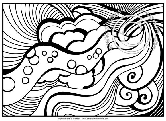 Abstract Coloring Pages for Adults Printable Dimensions of