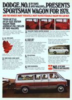 Dodge Royal Sportsman Van 1978 Ad Picture