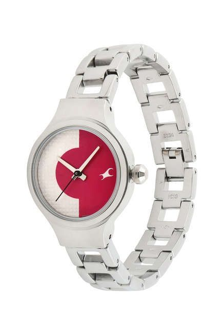 ef6a6dcb1  FASTRACK GIRLS  METAL  ANALOG  PINK AND WHITE  WATCHES 6134SM02C - This