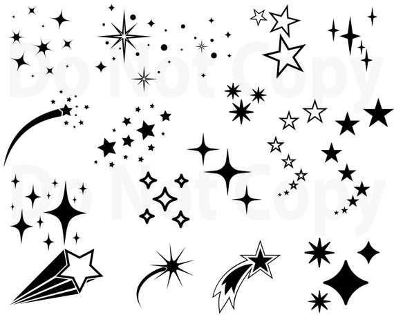 Stars Svg Bundle Star Vector Shooting Stars Svg File For Cricut Outer Space Design Elements Clip Art Star Silhouette Png Dxf Esp With Images Star Silhouette
