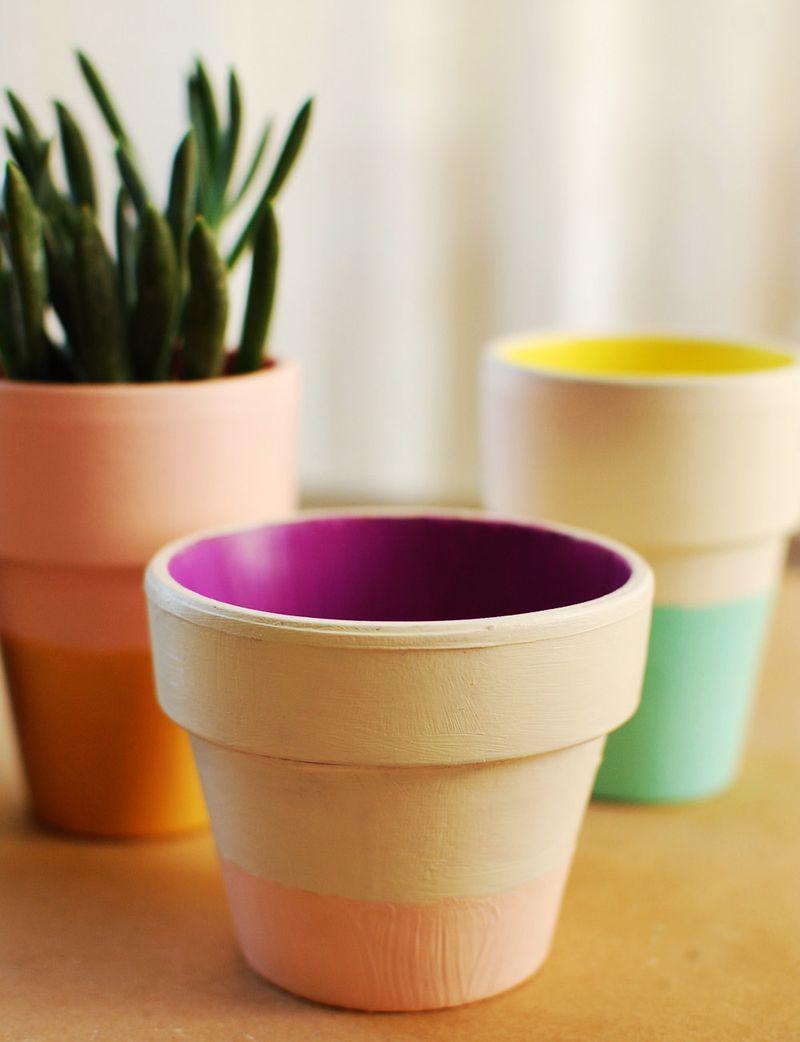 40 Ideas para vestir Ollas Terra Cotta - DIY Artesanía Sábado Planter Inspiración - Ideas (este año el tiempo)