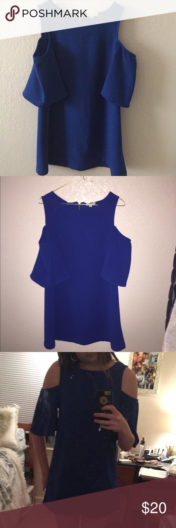 Blue shoulderless dress shoulder dress blues and minis