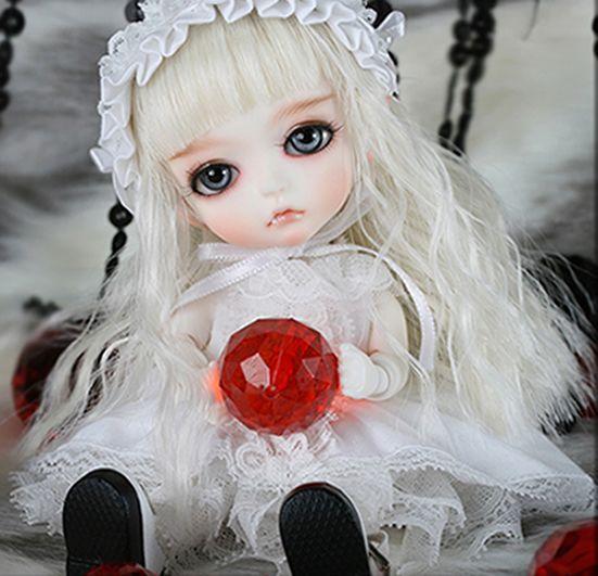 BJD 1//8 Doll Pandy free eyes face make up+body blushing