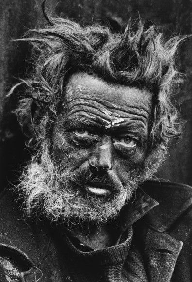 Don McCullin | Photography homeless irishman mccullin decribed as being murman like.he took this after just having woken the man up...