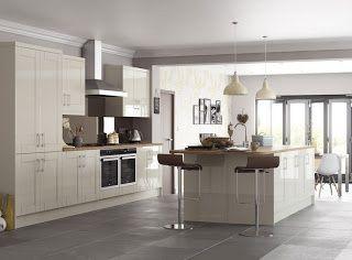 Cream Kitchen With Grey Floor Google Search Grey Kitchen Floor