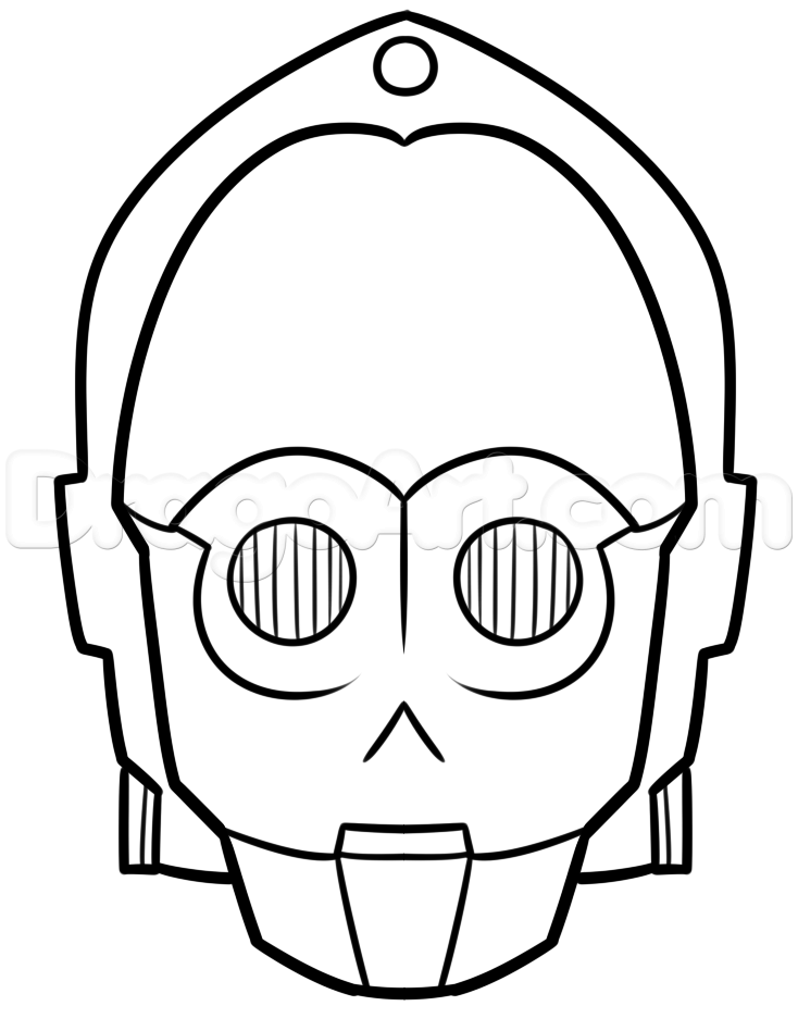 how to draw c-3po easy step 6 | Star wars | Pinterest | Drawings ...