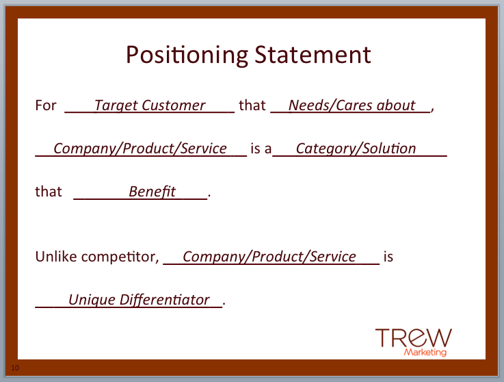 positioning statement - Google Search | OHS research | Pinterest ...