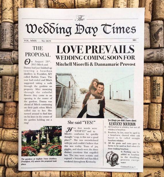 Vintage Newspaper Wedding Invitation Wedding Newspaper Newspaper Wedding Invitations Etsy Wedding Invitations