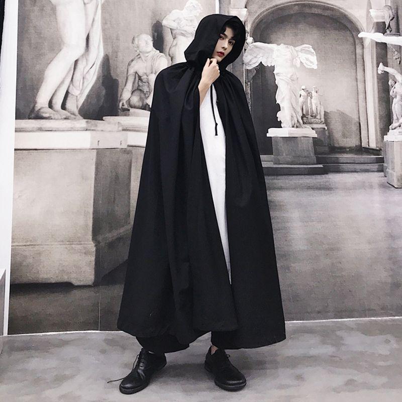 秋冬新款暗黑系男士超長款過膝連帽風衣潮流男青年斗篷披風外套潮-淘寶網   Fashion, Nun dress, Dresses