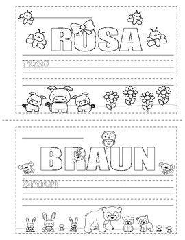 colors in german die farben mini booklet coloring german worksheets for children. Black Bedroom Furniture Sets. Home Design Ideas