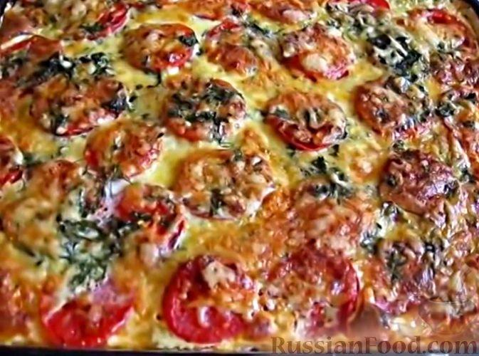 Рецепт Запеканка из кабачков, с фаршем и помидорами ...