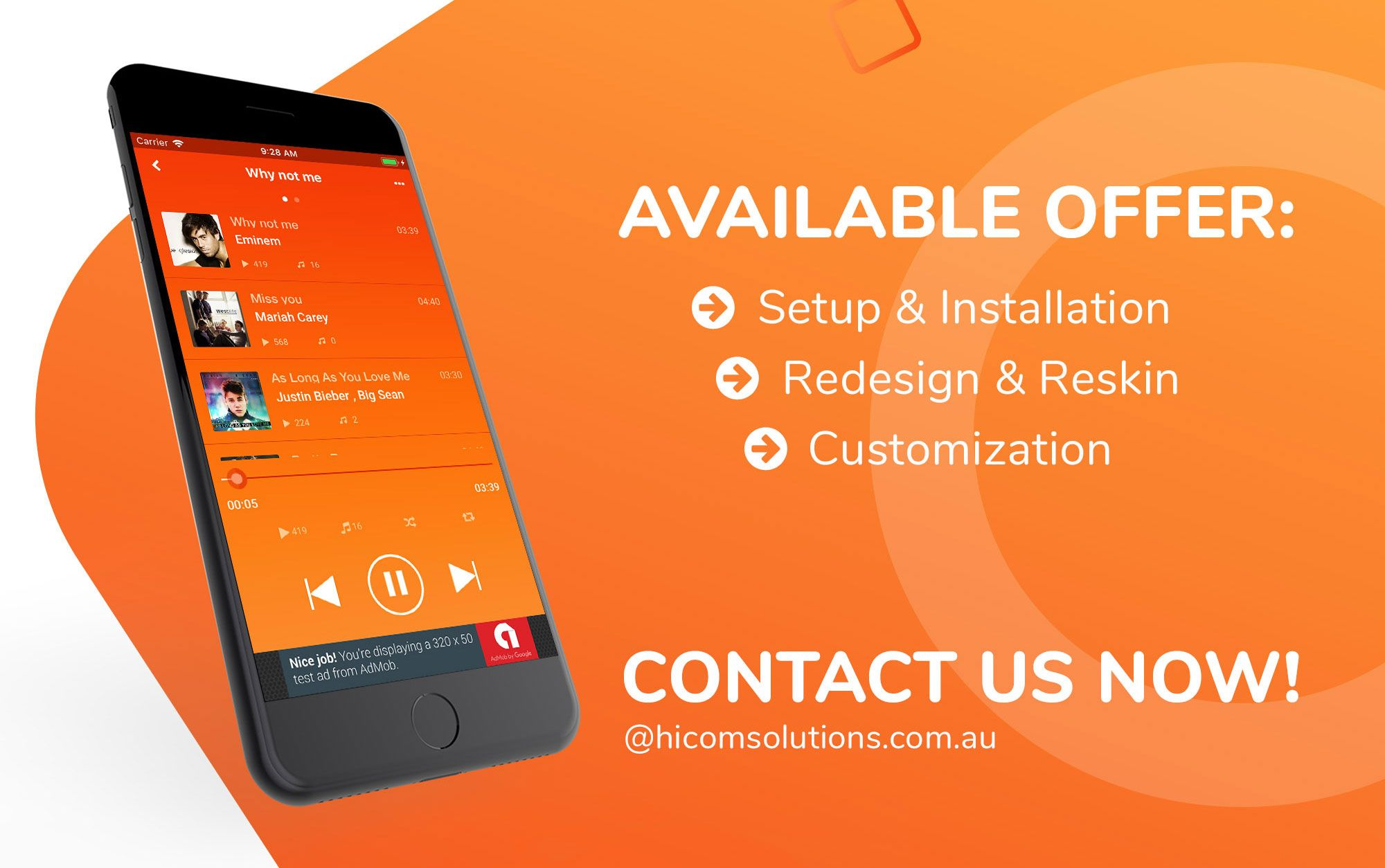 Music App with Soundcloud Look Android App Music app