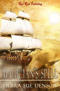 Magician's Spell - historical romance by Debra Denson. Available as an e-book now at Red Rose Publishing or through Amazon