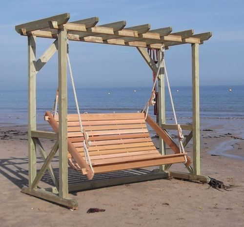 Three Seat Swing   Garden Swings, Swing Seats, Adirondack Chairs, Wooden  Furniture From Fantails