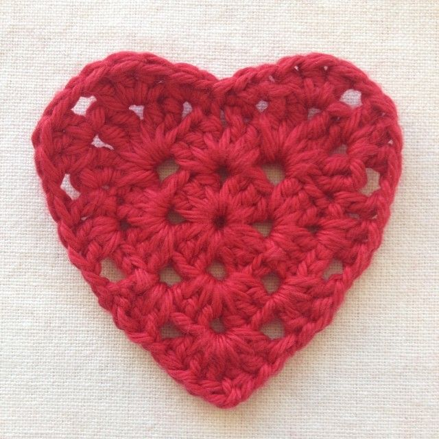 Granny Square Heart Tutorial Pinterest Heart Patterns Patterns