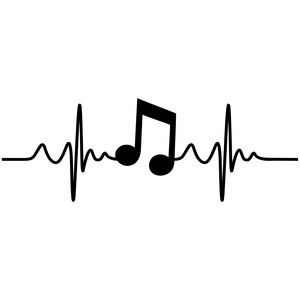 Music Pulse Sophie Gallo Design Silhouette Store Digital Files