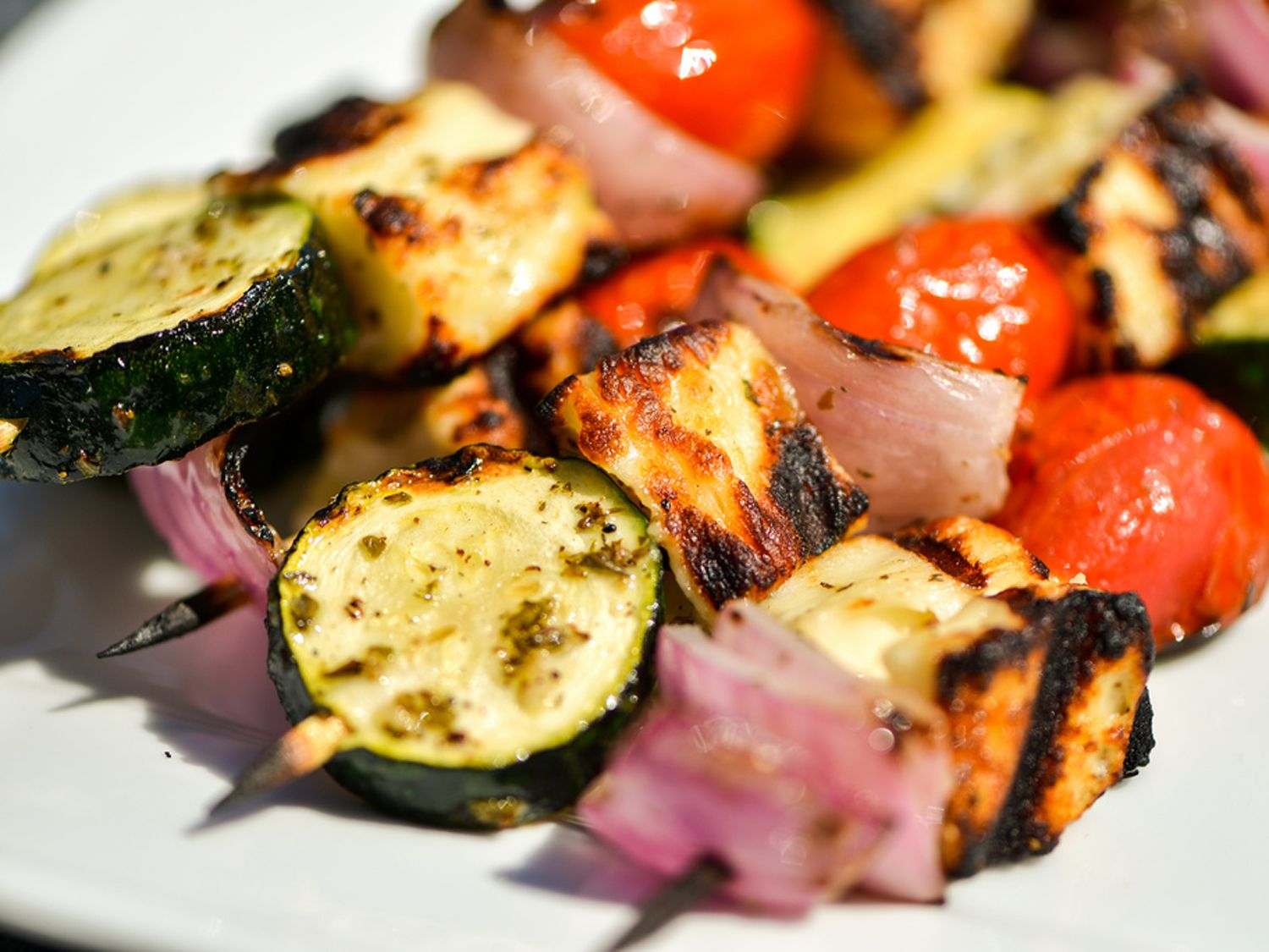 A Vegetarian Grilling Wonder: Halloumi and Vegetable Kebabs