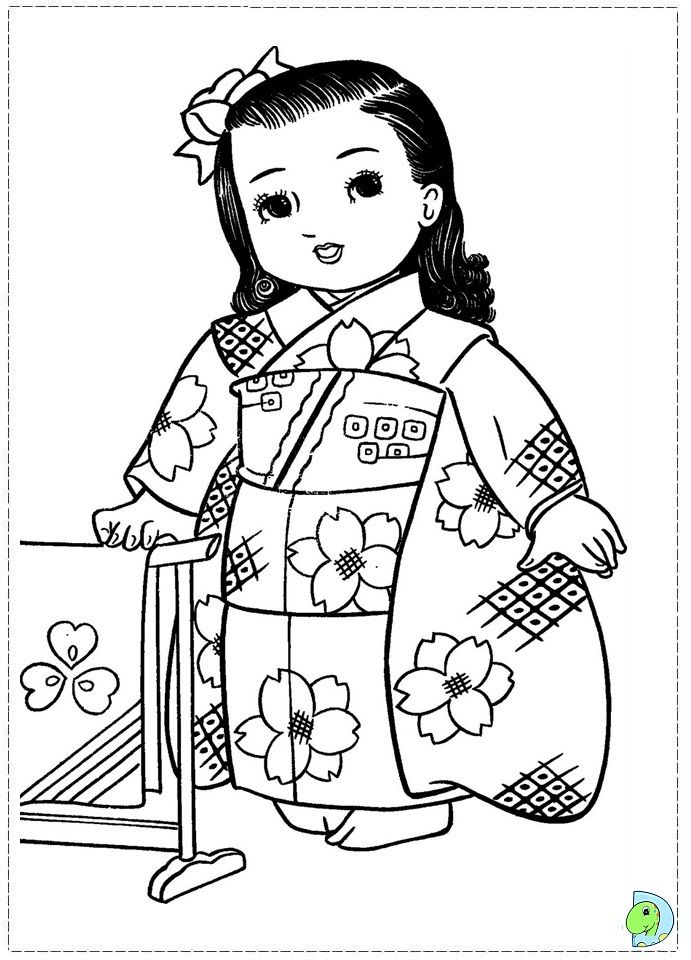 Beyond the educational virtues coloring sessions allow us Japanese coloring book for adults