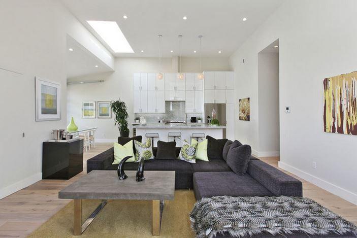 deco salon moderne noir et blanc gris deco maison moderne ...