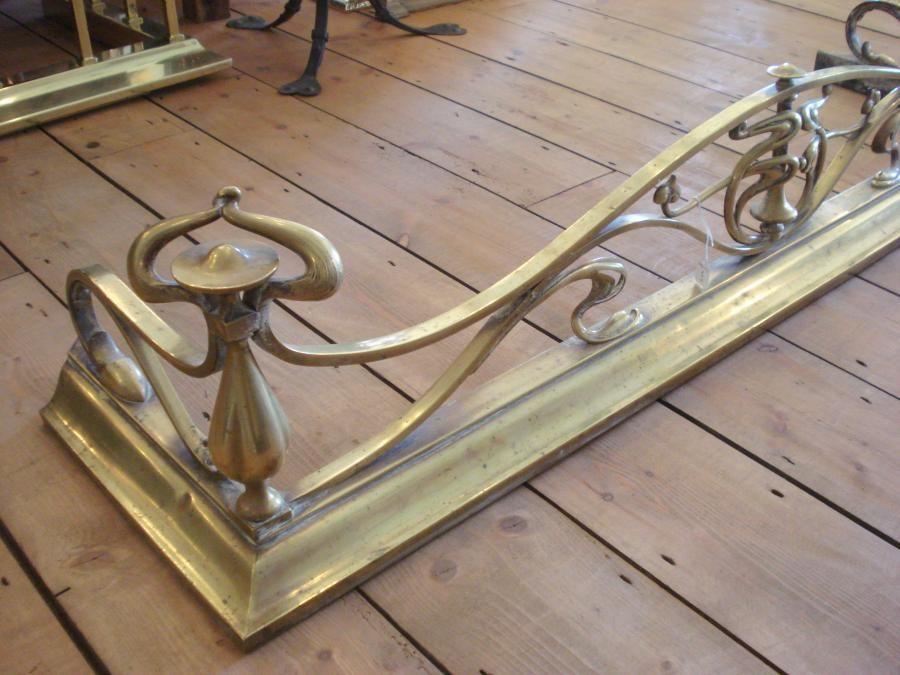 Fireplace Design fireplace fenders : Antique-Brass-Art-Nouveau-Fireplace-Fender-Guard-Circa1910_60535_2 ...