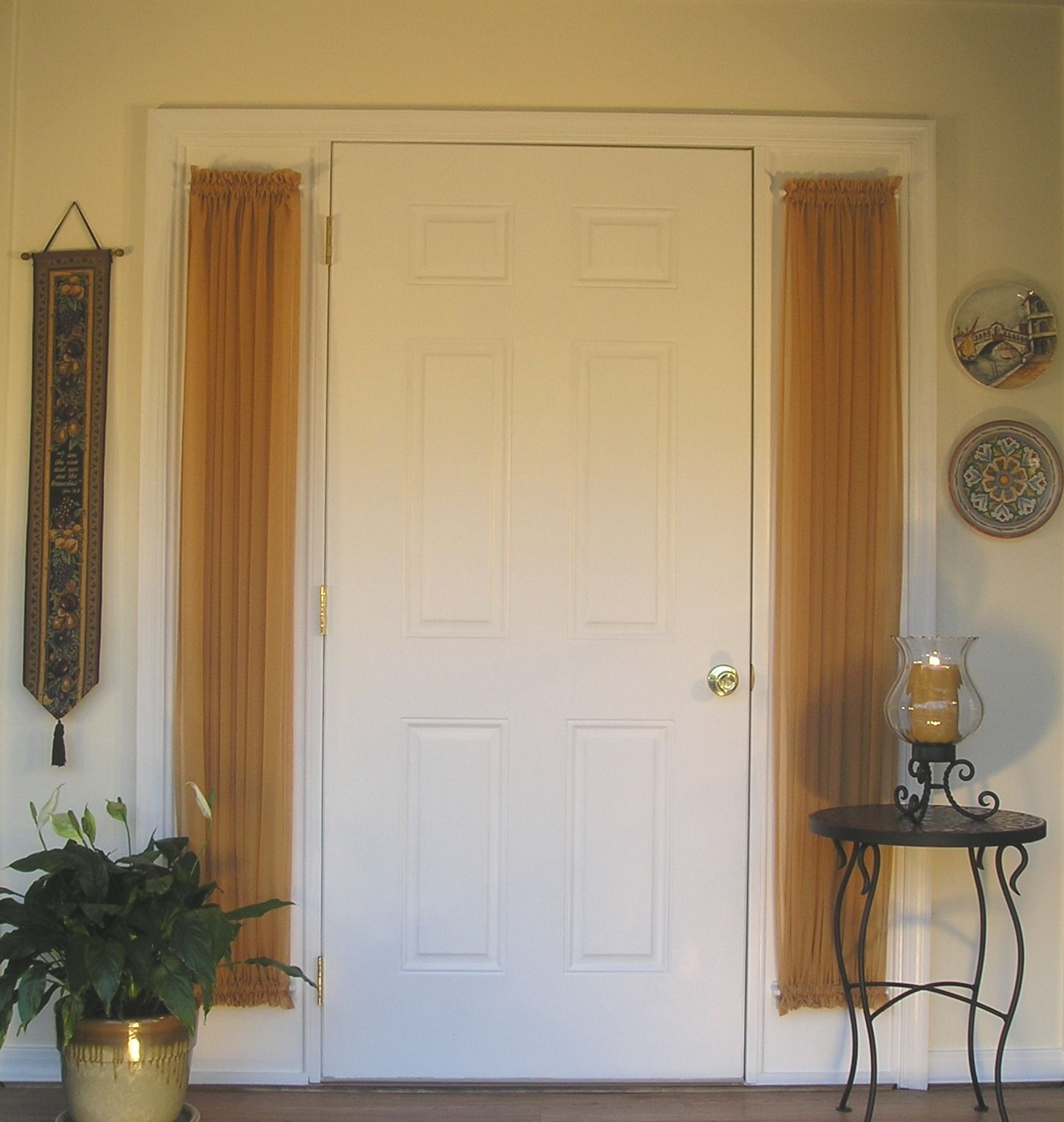 Front Door Side Panel Curtains   Window curtain designs, Small ...