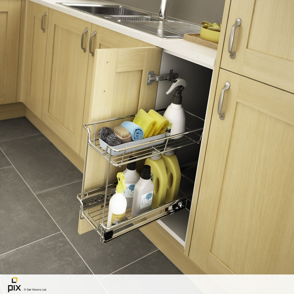 A storage solution for all your cleaning products. Hard wearing wire ...