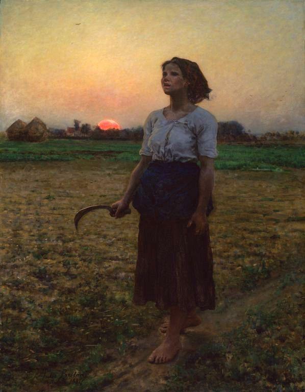 Jules Breton: The Song Of The Lark, 1884 (Art Institute of Chicago)
