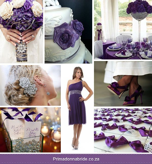 Turquoise+And+Purple+Wedding+Decorations | Purple, White And Silver Wedding