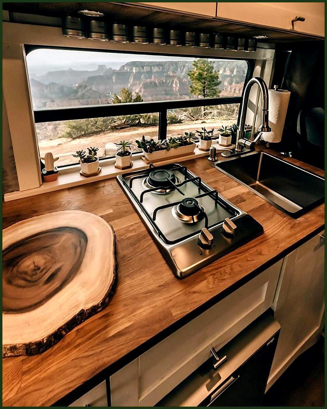 Van Conversion Company On Instagram Everything The Kitchen Sink And They Travel Vanconversion Advanture Vanlif Va Van Conversion Interior Van Life Diy Van Home
