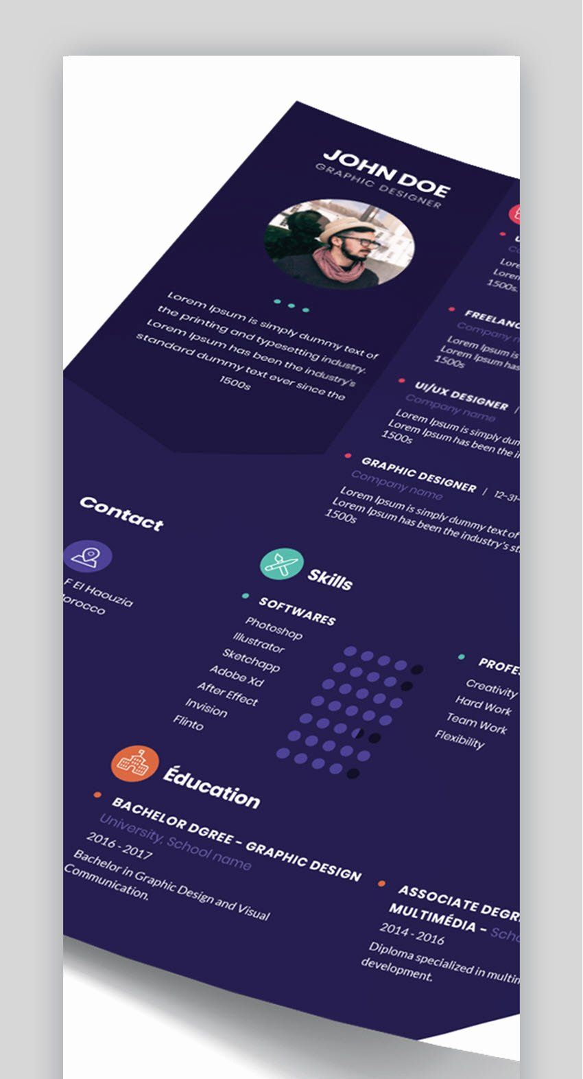 Visual Resume Template Free Unique 30 Top Visual Cv Resume Templates For The Best Creative Visual Resume Resume Template Free Resume Template