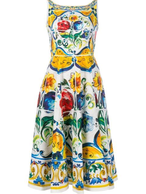 71e1dfc1 DOLCE & GABBANA Majolica Print Dress. #dolcegabbana #cloth #dress ...