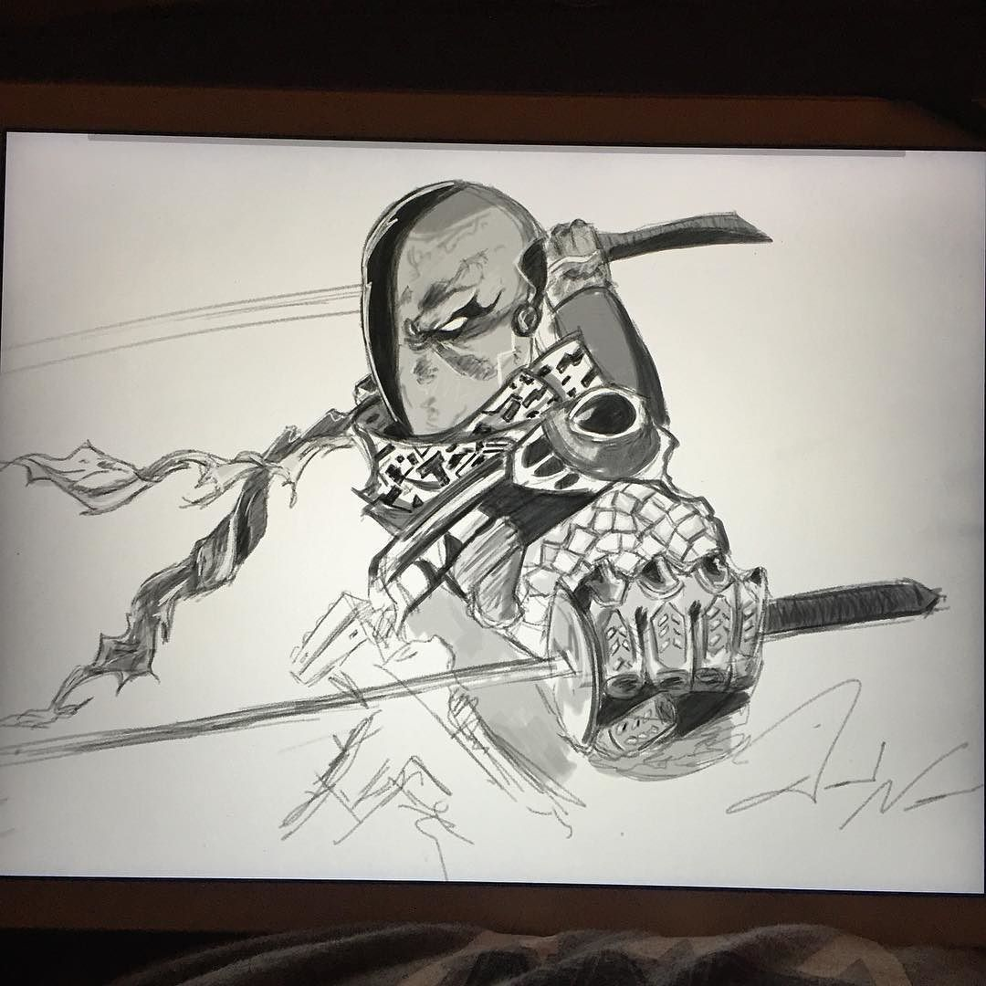 On instagram by ndavid24 #madewithpaper #enclavedepod (o) http://ift.tt/1Zissy7 sketch from last night. Using Paper and Forge. @forgeapp @fiftythree  @adonitusa #deathstroke #villain #dccomics #dc #forge #buildwithforge  #sketch #sketchbook #drawing #character #comics #ipadart #instaart #instapic #instagood #artist #cartoon #ink #illustration #geek #hobby #art #creative