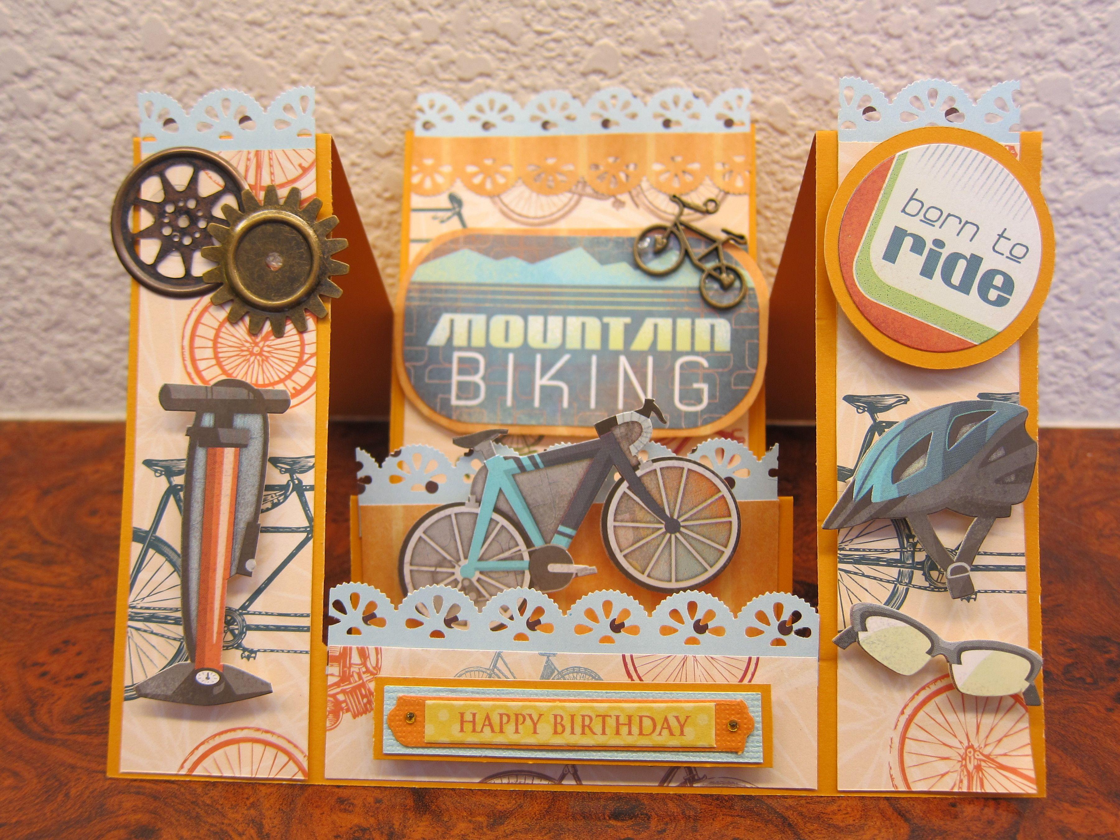 Mountain Biking Birthday Card Father Birthday Cards Birthday Cards For Men Birthday Cards