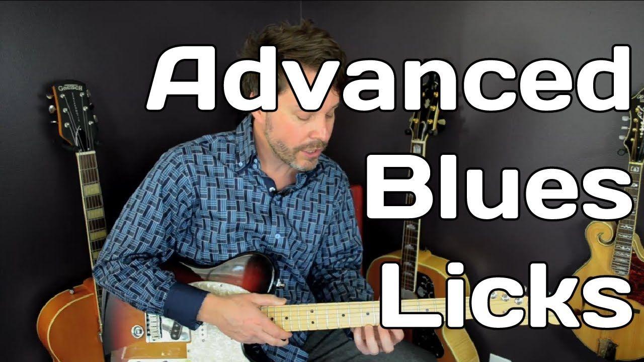 Guitar Blues Licks Free Guitar Lesson Advanced Video 6 Of 7 Free Guitar Lessons Guitar Lessons Guitar Tutorial