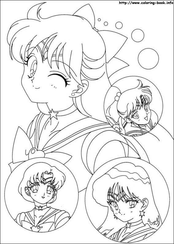 Sailor Moon coloring picture | DIBUJOS ANIME | Pinterest | Dibujos ...
