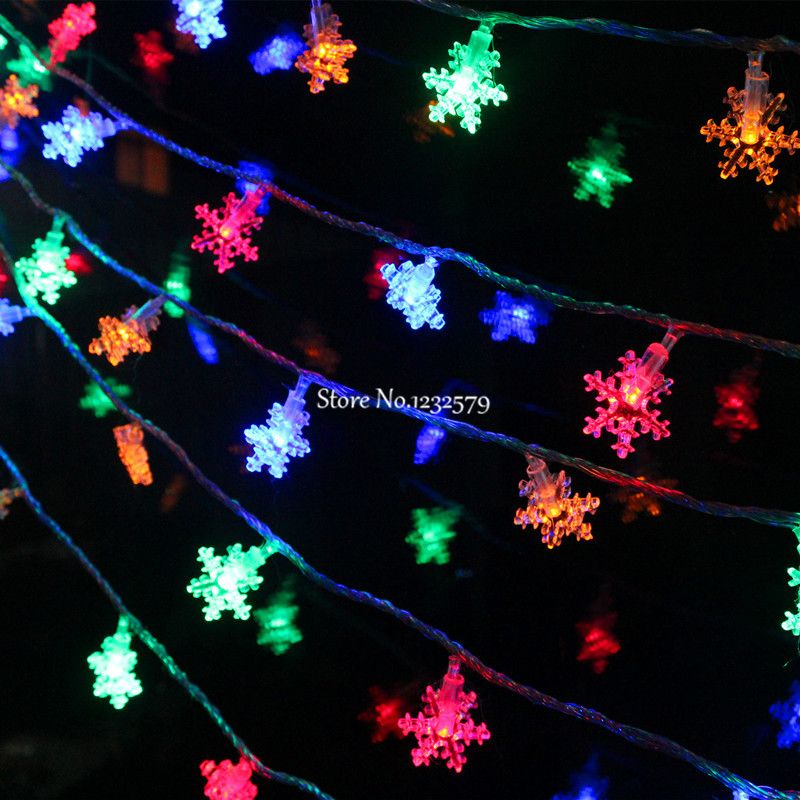 multicolor 2030405080 led fairy string lights battery operated small snowflake 2m3m4m5m10m christmas xmas party garland in led string from lights