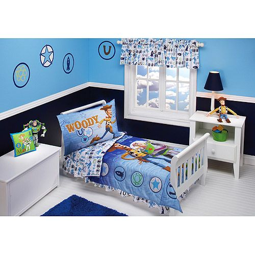 disney toy story buzz and woody toddler bedding set
