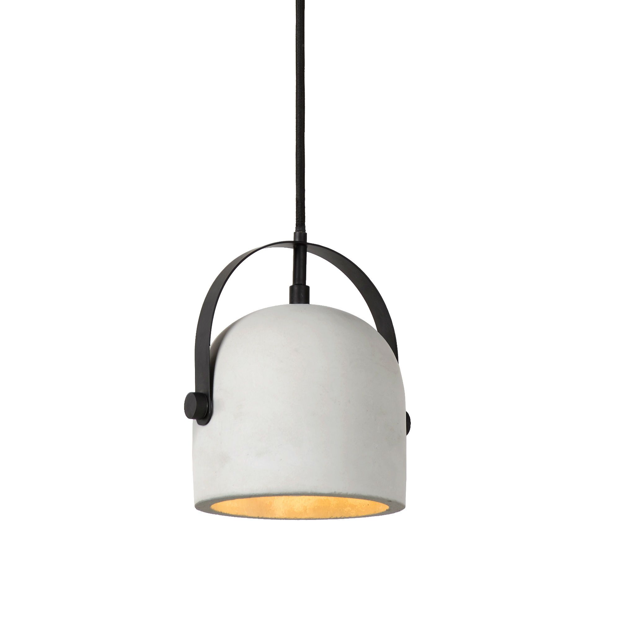 Molio suspension coupole b ton blanc 14cm lucide for Luminaire suspension blanc
