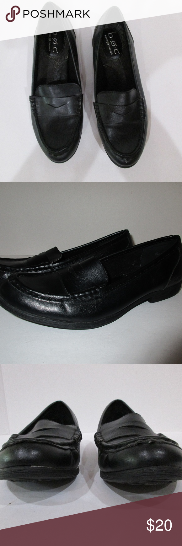 3aaccd729df Born Womens Penny Loafers Size 7M Black Vegan b.o.c. Born Concept Women s  Penny Loafers Size 7M Black Vegan - Man Made Very good