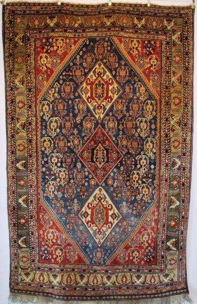 19th Century Qashqai Rug Exhibitor Aaron Nejad The London Antique And Textile Art