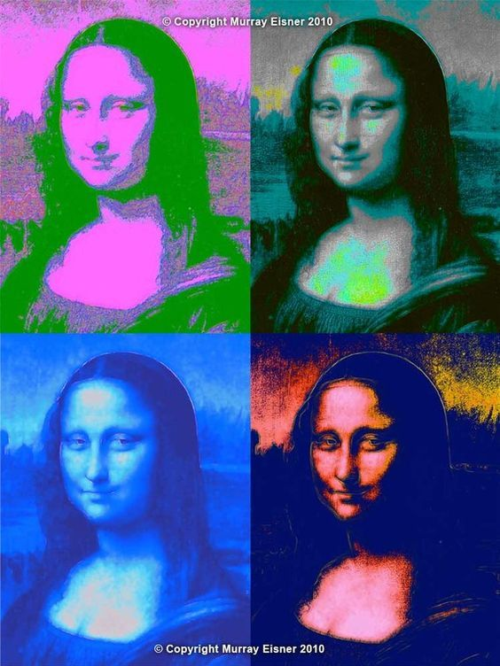 Amante Mona Lisa by Andy Warhol #PopArt | Mona lisa | Pinterest | Warhol @IE_86