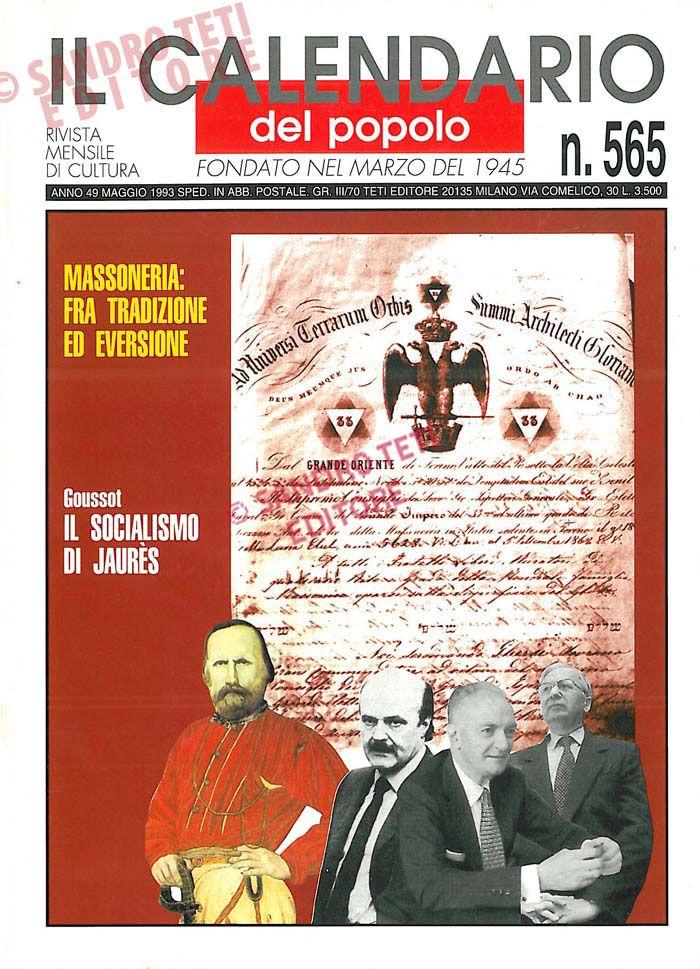 Il Calendario del Popolo n° 565, 1993