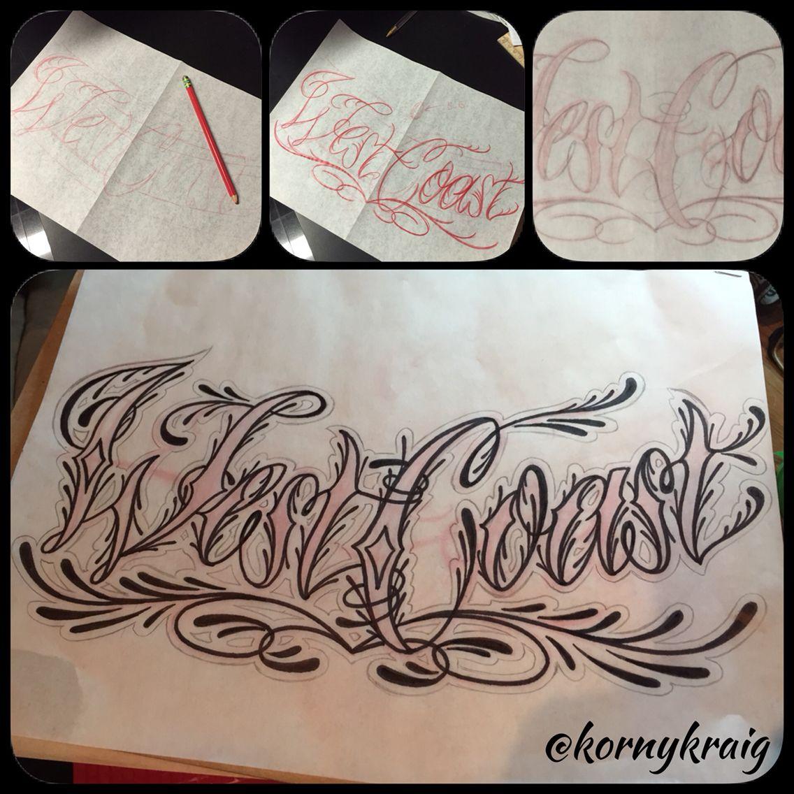 46+ Amazing West coast tattoo font image ideas