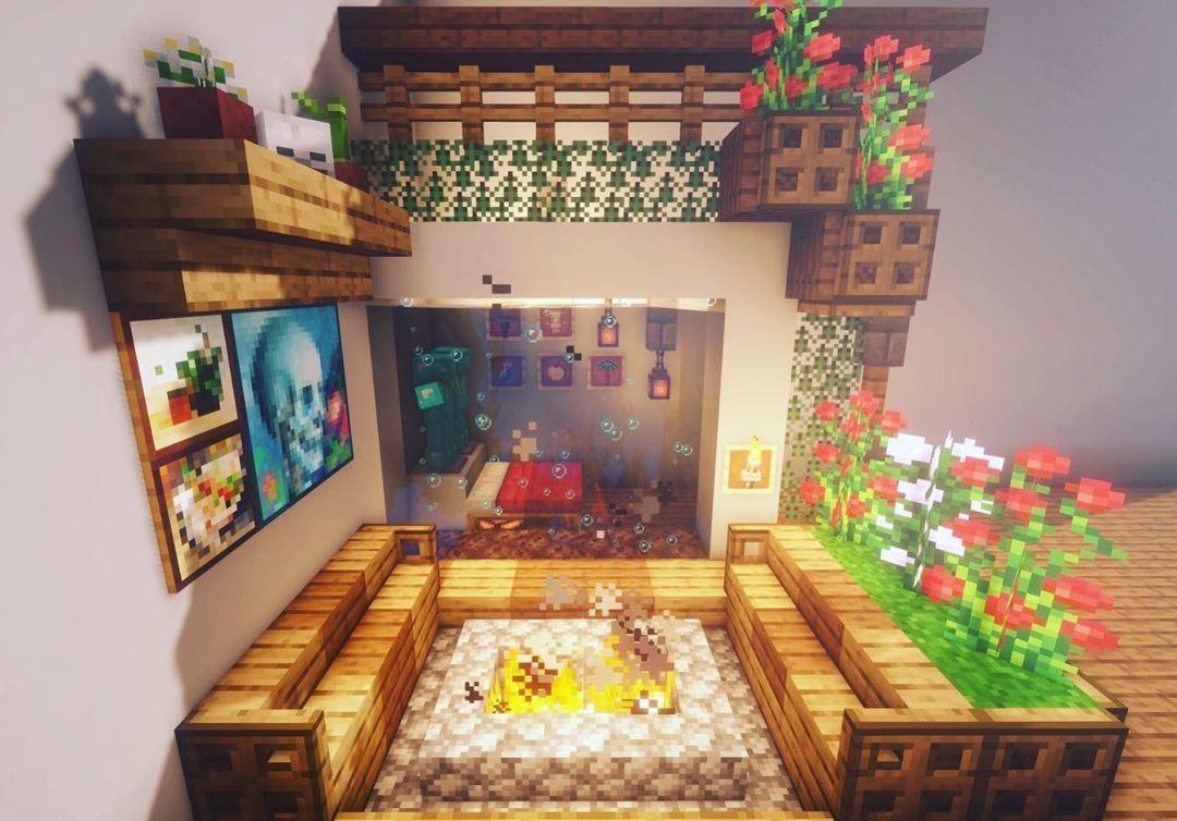 Sala de Estar Japonesa no Minecraft