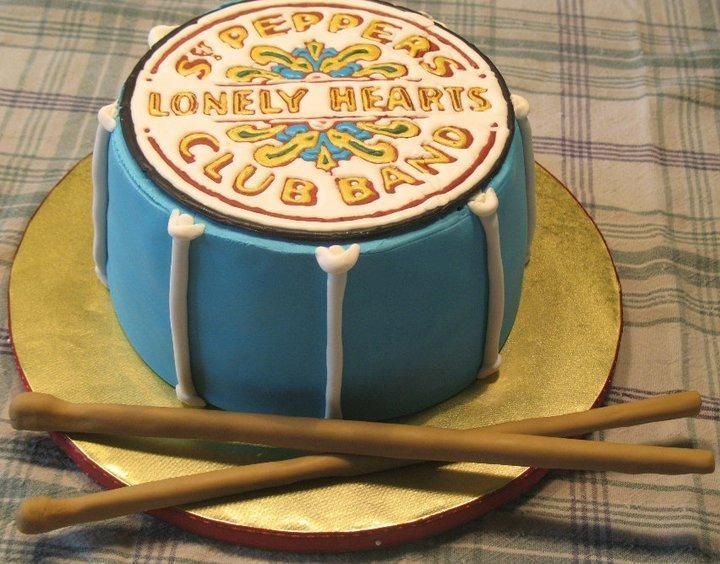 Sgt. Peppers Lonely Hearts Band Cake