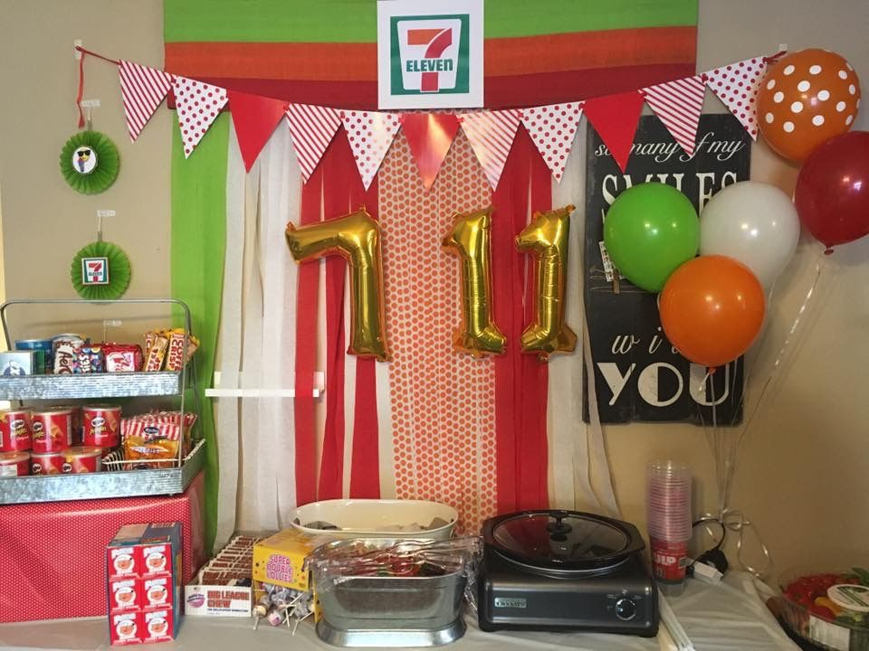 7 11 Party Eleventh Birthday Birthday Party Themes Girls Birthday Party