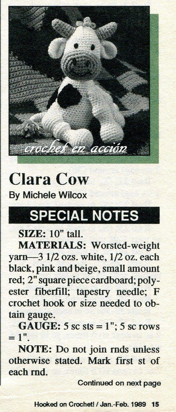 Crochet En Acción: La vaca Clara | crochet | Pinterest | Acción ...